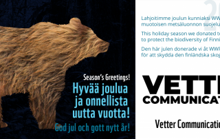 WWF-joulutervehdys